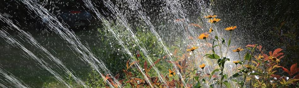 Sprühberegnung bei Hochbeet Bewässerung